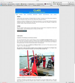 Image of CLADS website.